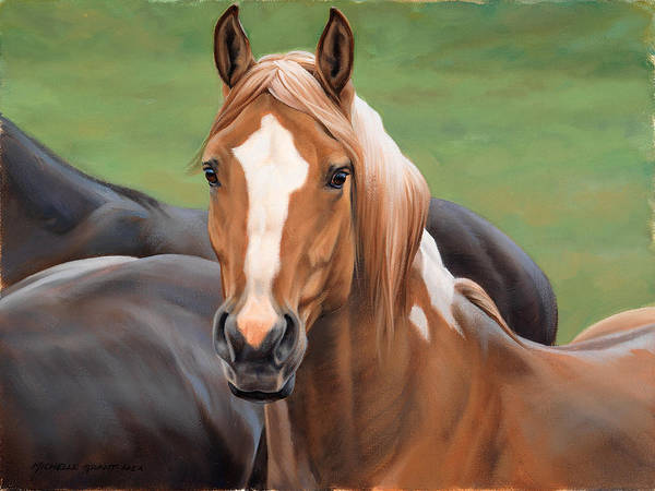 Saddle Wall Art - Painting - Head's Up by JQ Licensing