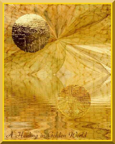 Mixed Media - Healing In Golden Pond by Ray Tapajna