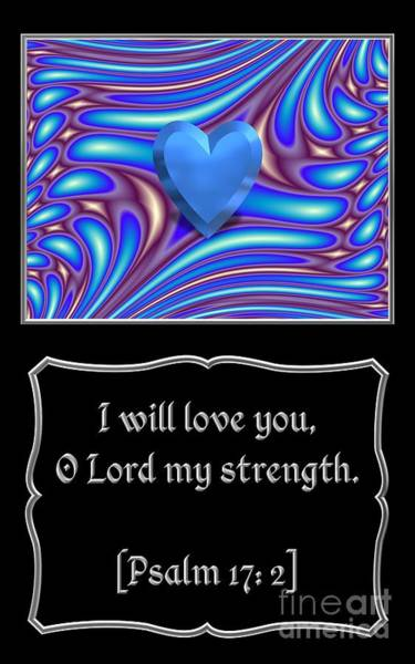 Photograph - Heart And Love Design 8 With Bible Quote by Rose Santuci-Sofranko
