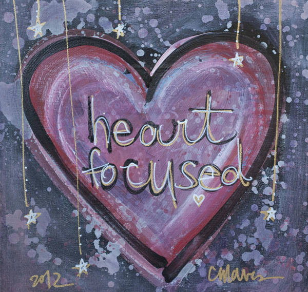 Painting - Heart Focused by Laurie Maves ART