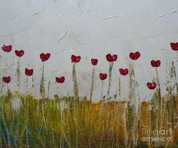 Painting - Heart Poppies by Monika Shepherdson