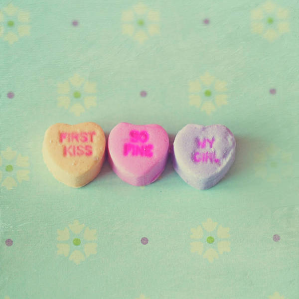 Photograph - Heart Shape Candies by Images by Debbie Wibowo