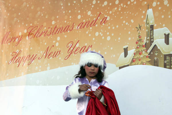 Manger Photograph - Heart To Heart Play At Manger Square by Munir Alawi