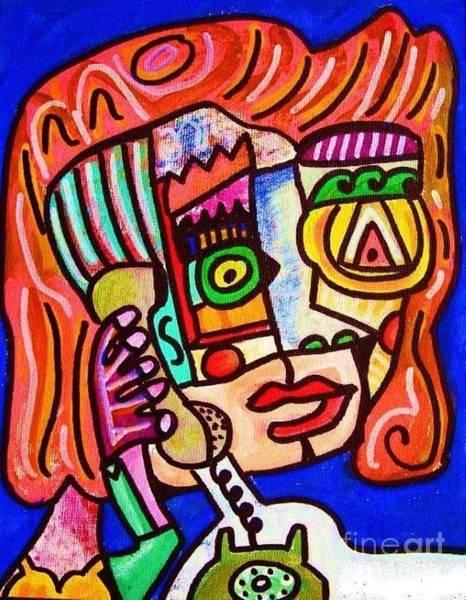 Painting - Heartbreak Phone Call by Sandra Silberzweig