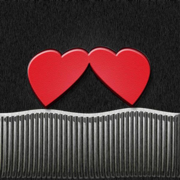 Digital Art - Hearts On Fence by Carolyn Marshall