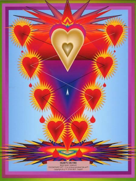 Altruism Digital Art - Hearts On Fire by Steven Welp