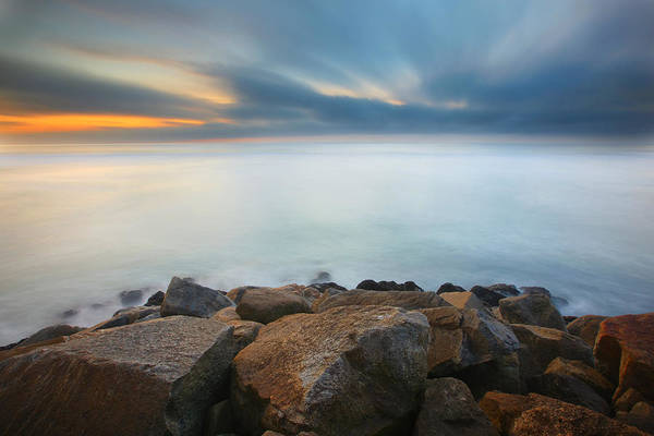 Jetty Photograph - Heaven And Earth 2 by Larry Marshall