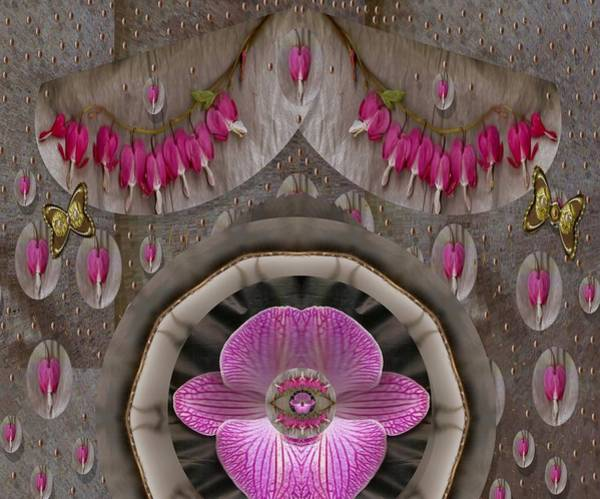 Orchid Mixed Media - Heavenly Peace And A Roof Of Love by Pepita Selles