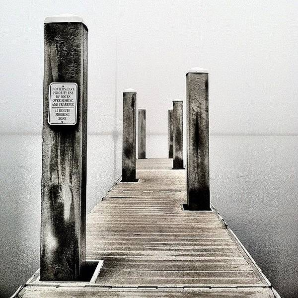 Draw Wall Art - Photograph - Heavy Fog Out On The Water Today by Drew Castelhano