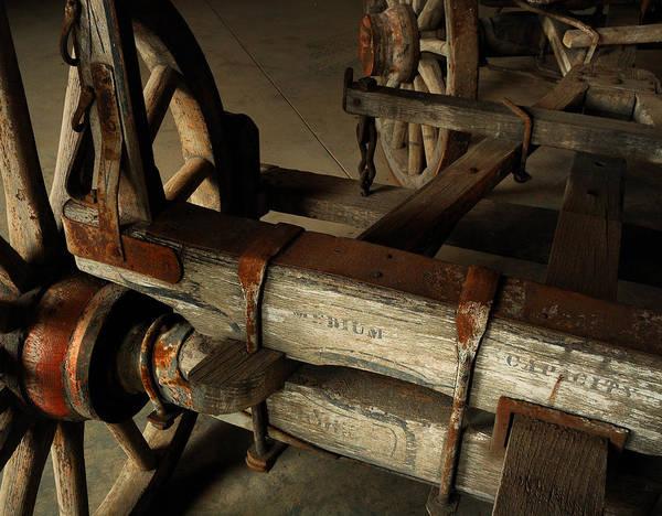 Wagon Wheel Photograph - Heavy Hauler - Vintage Wagon by Steven Milner