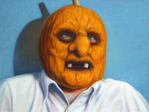 Pumpkins Wall Art - Painting - Heavy Vegetable-head by James W Johnson