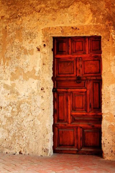 Photograph - Heavy Wooden Door by Sarah Broadmeadow-Thomas