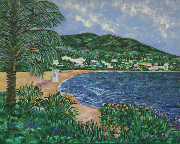 Laguna Beach Painting - Heisler Park Laguna Beach by Karen Alonge