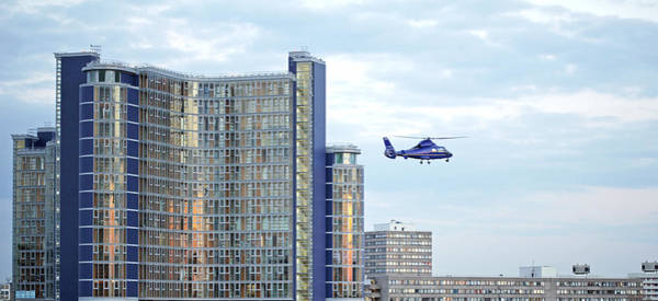 Southbank Photograph - Helicopter, London, Uk by Carlos Dominguez