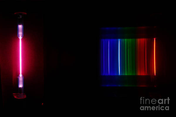 Grating Wall Art - Photograph - Helium Spectra by Ted Kinsman