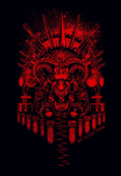 Mixed Media - Hell Is Ur Choice by Tony Koehl