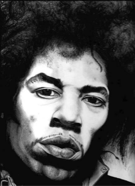 Sfumato Drawing - Hendrix by EFHerne