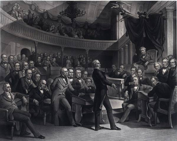 Whig Photograph - Henry Clay 1777-1852 Addressing by Everett