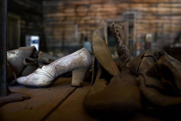 Photograph - Her White Shoe by Lorraine Devon Wilke