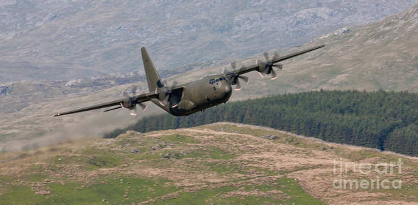Mach Loop Photograph - Hercules C130 J by Rory Trappe