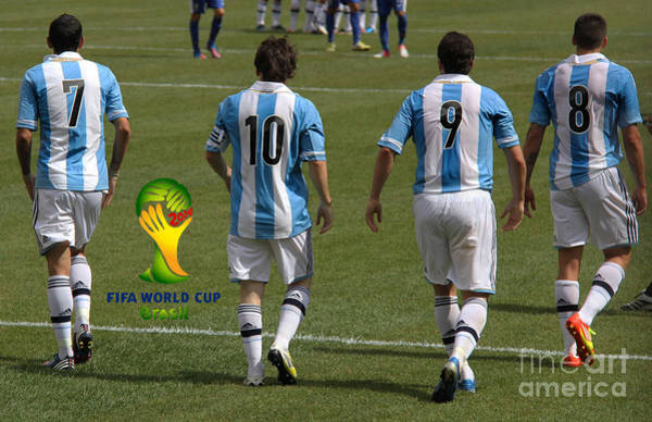 2010 Fifa World Cup Wall Art - Photograph - Here We Come Lionel Messi Fifa 2014 by Lee Dos Santos