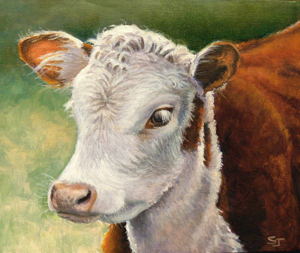 Painting - Herford Calf  by Susan Jenkins