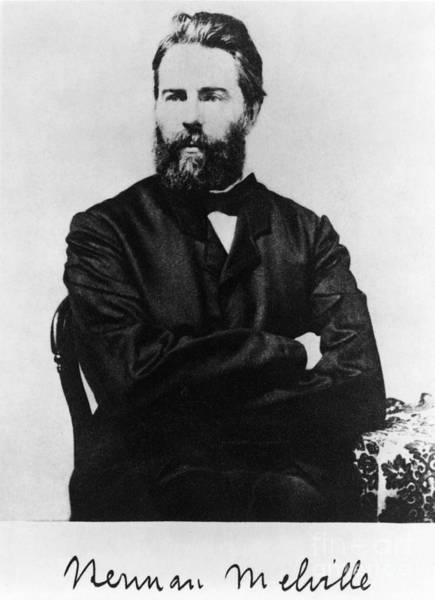 Melville Photograph - Herman Melville, American Author by Photo Researchers, Inc.
