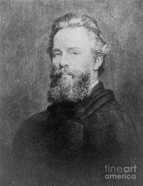 Melville Photograph - Herman Melville, American Author by Photo Researchers