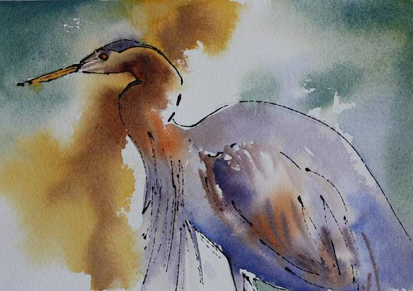 Painting - Heron Essence by Tara Moorman