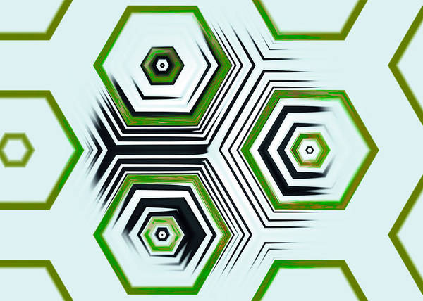 Vibrations Digital Art - Hexagonal by Hakon Soreide