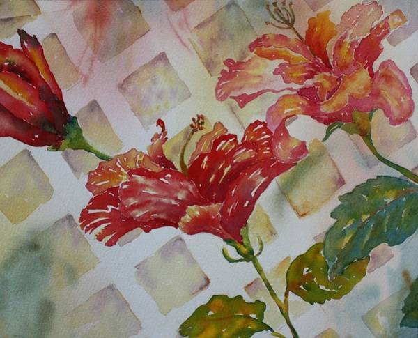 Painting - Hibiscus Trio by Tara Moorman