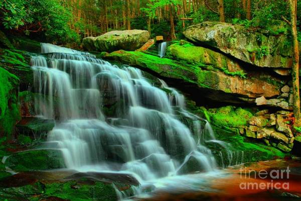 Photograph - Hidden Falls At Black Water by Adam Jewell
