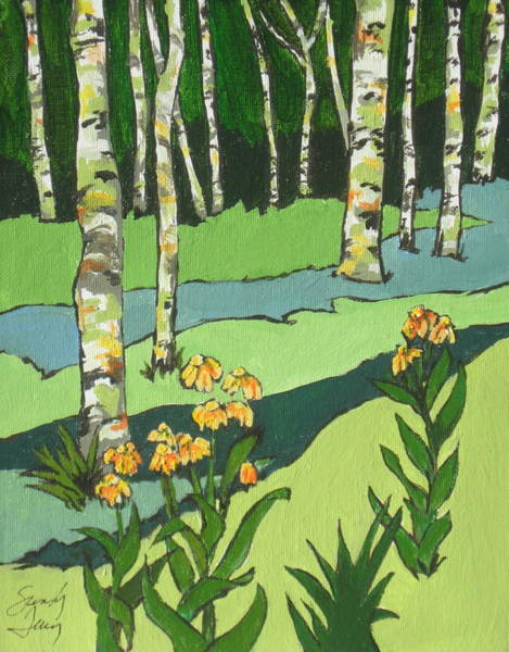 Flagstaff Painting - High Country 2 by Sandy Tracey