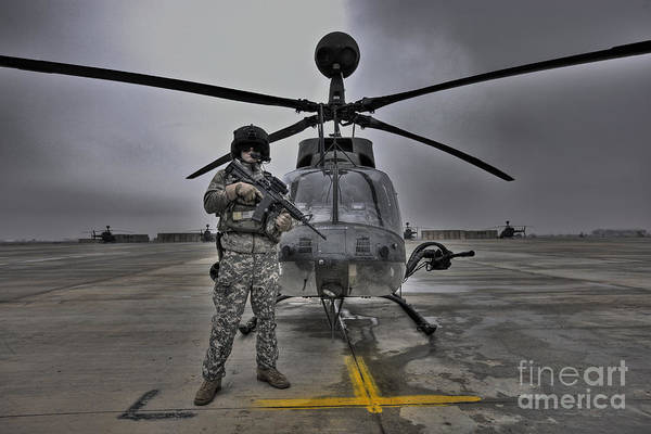 Kiowa Photograph - High Dynamic Range Image Of A Pilot by Terry Moore