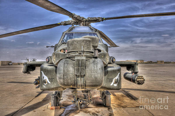 Photograph - High Dynamic Range Image Of An Ah-64d by Terry Moore