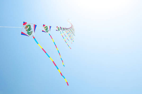 Flying A Kite Photograph - High Flying Kites by Flash Parker