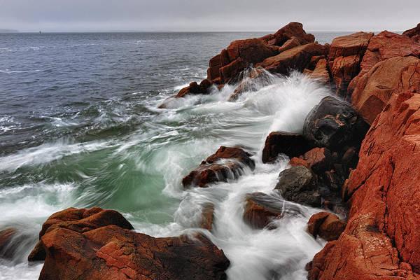 High Tide Photograph - High Tide At Bass Harbor Head by Rick Berk