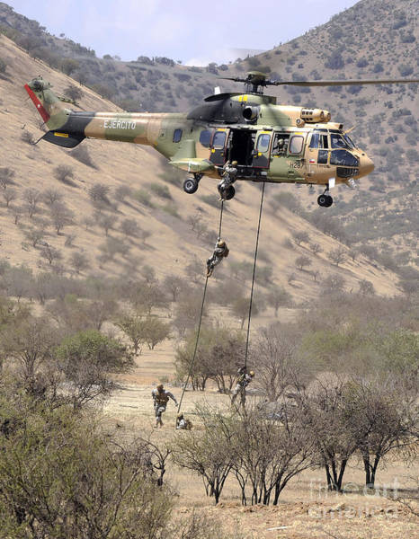 Photograph - Hilean Special Forces Perform An Air by Stocktrek Images