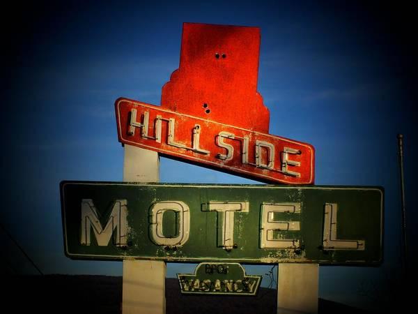 Wall Art - Photograph - Hillside Motel by Michael L Kimble