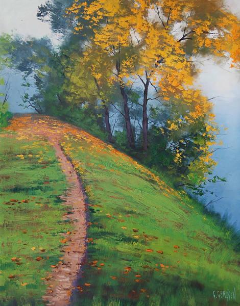 Hillside Wall Art - Painting - Hillside Trail by Graham Gercken