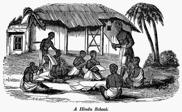 Photograph - Hindu School, C1850 by Granger