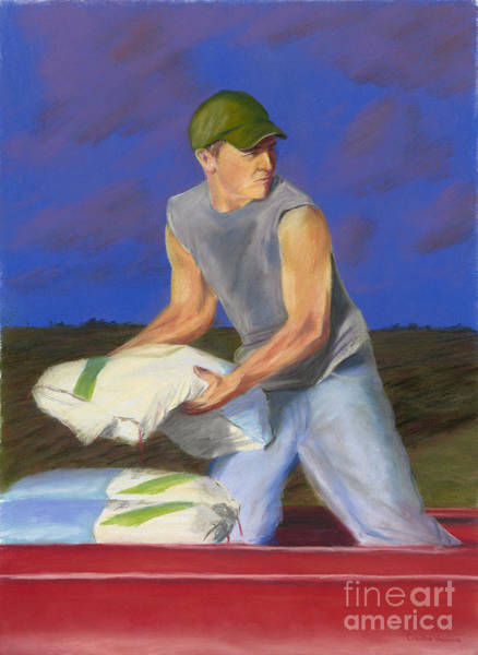 Wall Art - Pastel - Hired Hand by Christian Vandehaar