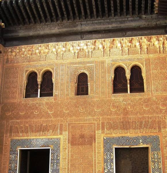 Photograph - Historic Building With Arabic Design Granada Spain by John Shiron