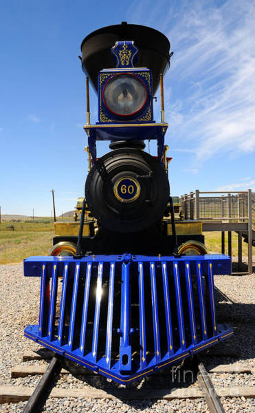 Promontory Point Photograph - Historic Jupiter Steam Locomotive by Gary Whitton