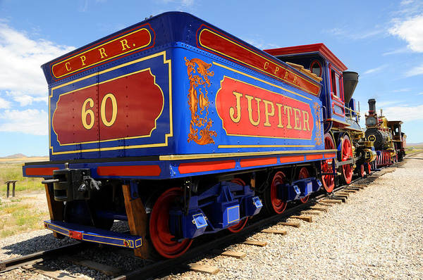 Promontory Point Photograph - Historic Jupiter Train - Promontory Point National Historic Park by Gary Whitton