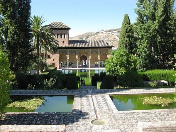 Photograph - Historic Moorish Building And Garden Alhambra Granada Spain by John Shiron