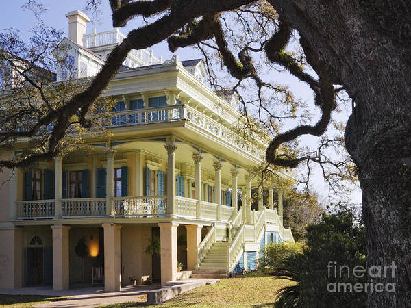 Wall Art - Photograph - Historic Plantation Manor Home by Jeremy Woodhouse