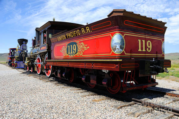 Promontory Point Photograph - Historic Train - Promontory Point National Historic Park by Gary Whitton