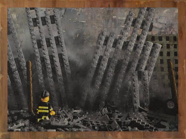 World War 11 Painting - Hitting Home by Josh Bernstein