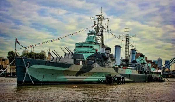 Photograph - Hms Belfast by Heather Applegate